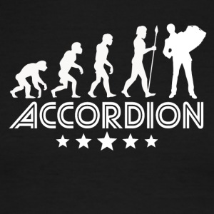 Retro Accordion Evolution - Men's Ringer T-Shirt