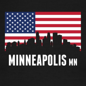 American Flag Minneapolis Skyline - Men's Ringer T-Shirt