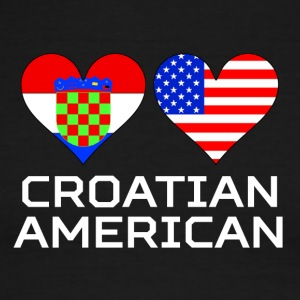 Croatian American Hearts - Men's Ringer T-Shirt