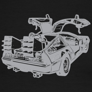 illustration-back-to-the-future-delorean - Men's Ringer T-Shirt