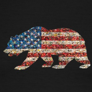 Americana Bear - Men's Ringer T-Shirt