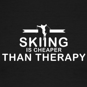 Skiing is cheaper than therapy - Men's Ringer T-Shirt