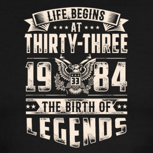 Life Begins at Thirty-Three Legends 1984 for 2017 - Men's Ringer T-Shirt