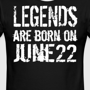 Legends are born on June 22 - Men's Ringer T-Shirt