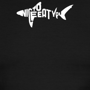 Nice To Eat You Shark - Men's Ringer T-Shirt