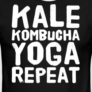 Kale kombucha yoga repeat - Men's Ringer T-Shirt