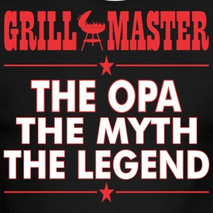 Grillmaster The Opa The Myth The Legend BBQ - Men's Ringer T-Shirt