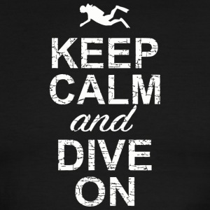Dive bar - Keep Calm And Dive On - Men's Ringer T-Shirt