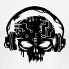 cyber Skull with headphones - Men's Ringer T-Shirt