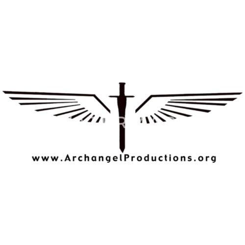 black archangel productions wings and sword logo men u0026 39 s ringer t