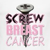 Funny Breast Cancer Design Screw Breast Cancer - Men's Ringer T-Shirt