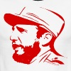 Fidel Castro in Red - Men's Ringer T-Shirt