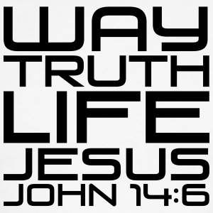 Way truth life Jesus - Men's Ringer T-Shirt