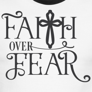 Faith over fear jasus - Men's Ringer T-Shirt