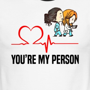 Grey s Anatomy You are my person - Men's Ringer T-Shirt