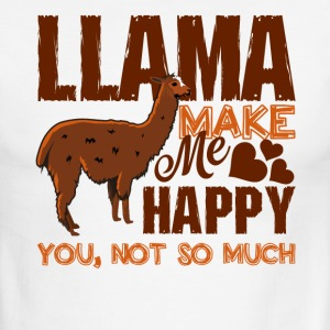 Llamas Make Me Happy Shirt - Men's Ringer T-Shirt