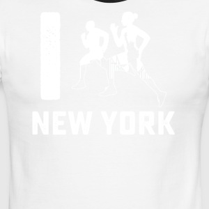 I run New York tee shirt - Men's Ringer T-Shirt