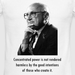 Milton Friedman Concentrated Power - Men's Ringer T-Shirt