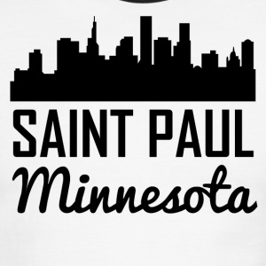 Saint Paul Minnesota Skyline - Men's Ringer T-Shirt