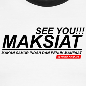 seeyou Maksiat - Men's Ringer T-Shirt