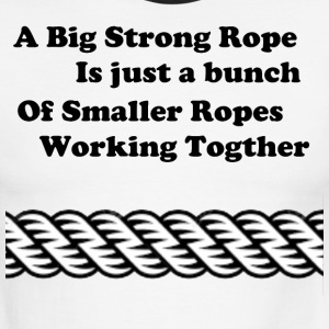 Rope inspiration. - Men's Ringer T-Shirt