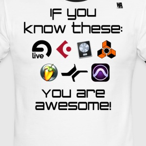 If you know these DAW templates - you are awesome! - Men's Ringer T-Shirt