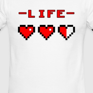 life bar retro games - Men's Ringer T-Shirt