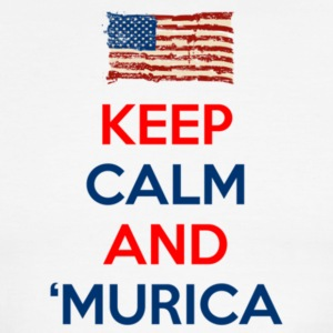 Keep Calm And Murica - Men's Ringer T-Shirt