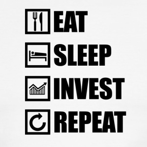 EAT SLEEP INVEST REPEAT - Men's Ringer T-Shirt