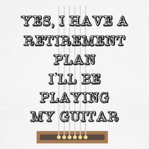 Guitar Retirement Plan Funny Tee Shirt - Men's Ringer T-Shirt