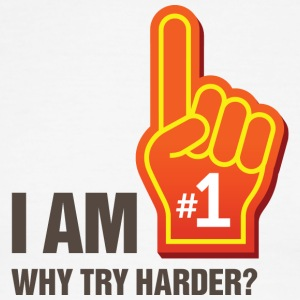 I Am The # 1. Why Try Harder? - Men's Ringer T-Shirt
