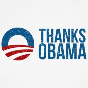 Thanks Obama Logo - Men's Ringer T-Shirt