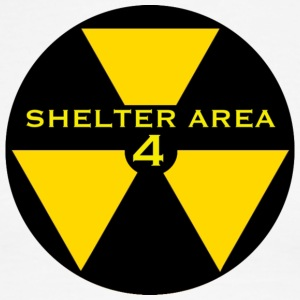 ShelterArea4 patch yellow - Men's Ringer T-Shirt