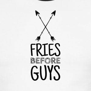 Fries before Guys - Arrows & Quote - Men's Ringer T-Shirt