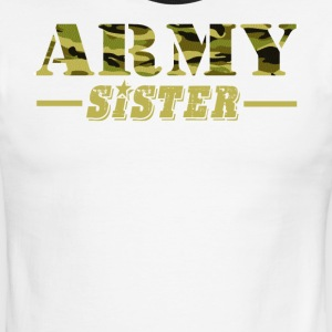 Army Sister - Proud Army Sister T-Shirt - Men's Ringer T-Shirt