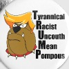 Funny Anti Trump Cartoon - Large Buttons