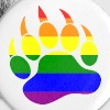 Rainbow Flag Bear Paw - Large Buttons