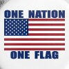 ONE NATION ONE FLAG US FLAG - Large Buttons