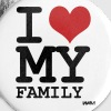 i love my family by wam - Large Buttons