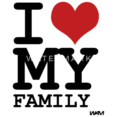 I Love My Family By Wam Large Buttons Spreadshirt