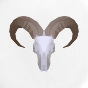 Low Poly Aoudad Skull - Large Buttons