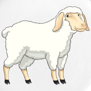 Sheep pet wildlife animal vector cartoon art goat - Large Buttons