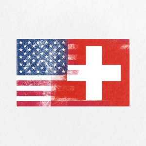 Swiss American Half Switzerland Half America Flag - Large Buttons