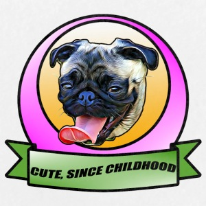 Cute since childhood Pug the dog - Large Buttons
