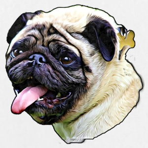 Pug smudge art - Large Buttons