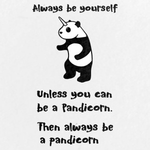 Always be Yourself Panda Pandicorn Funny - Large Buttons