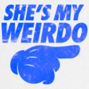 she s my weirdo galaxy - Large Buttons
