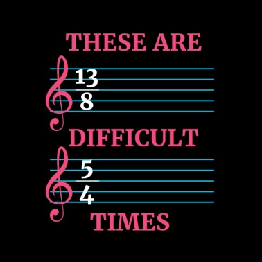 b37f9e6c6ee1e These are difficult times music clef - Men s Sport T-Shirt