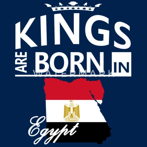 Egypt Born Kings Dad Husband Cool Birthday Gift By The Smiley Goods