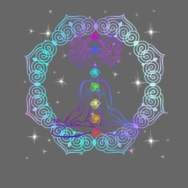 flower of life chakras spirituality yoga zen men's t